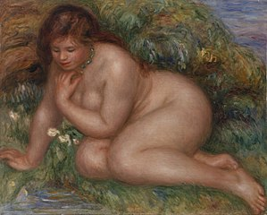 Bather Gazing at Herself in the Water (Baigneuse se mirant dans l'eau)