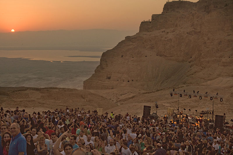 קהל בהופעה  במצדה   2012