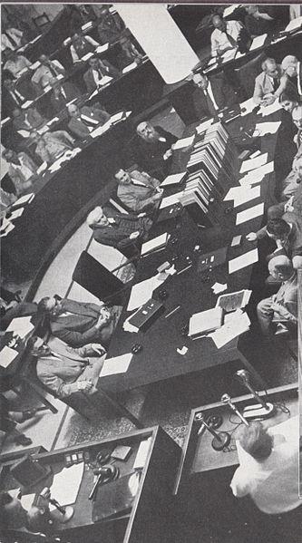 ישיבת הכנסת  והממשלה השנייה