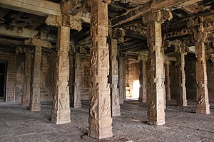 Ananthasayana temple - The pillared hall