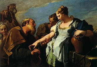 Musée des Beaux-Arts de Bordeaux - Image: Pittoni, Giambattista Eliezer and Rebecca 18th c