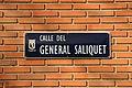 Placa de la calle General Saliquet en Madrid - 04 (7 de febrero de 2016, Madrid).JPG