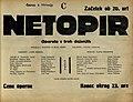 Plakat za predstavo Netopir v Narodnem gledališču v Mariboru 6. februarja 1930.jpg