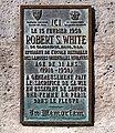 Plaque Robert S. White, quai des Grands-Augustins, Paris 6e.jpg