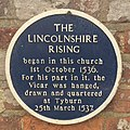 Plaque commemorating the Lincolnshire Rising (36624625612).jpg