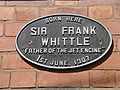 Plaque whittle birth place 8g07.JPG