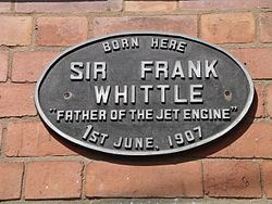 Plaque whittle birth place 8g07