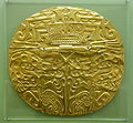 Plaque with embossed design, Cocle, Panama, 800-1500 AD, gold - Fitchburg Art Museum - DSC08819.JPG