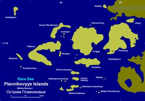 Plavnikovye Islands - Image: Plavnikovyye 5y