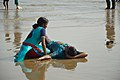 Playful Couple with Sea Waves - New Digha Beach - East Midnapore 2015-05-01 8741.JPG