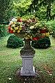 Plinth urn planter at Easton Lodge Gardens, Little Easton, Essex, England 03.jpg