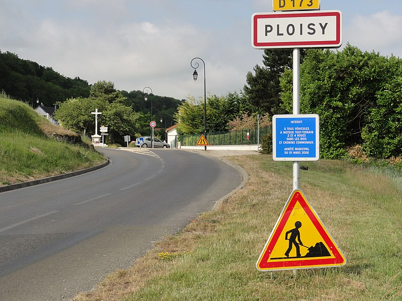 Ploisy (Aisne) city limit sign