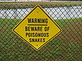 Poisonous snake warning sign.JPG