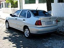 da862c4c8 1ª geração do Volkswagen Polo Classic. O modelo da foto é o 1.8 Mi 1997-2000