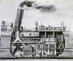Quadruple Expansion Steam Engine http://en.wikipedia.org/wiki/Marine_steam_engine