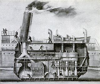 Marine steam engine steam engine that is used to power a ship or boat