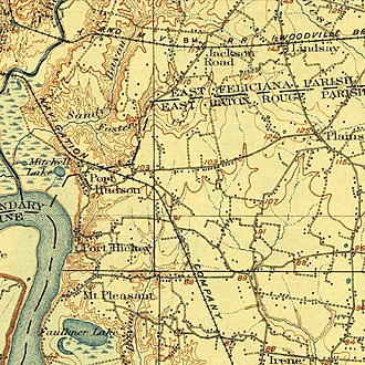 Port Hudson, Louisiana - Image: Port Hudson LA 1906 USGS Topographic Map