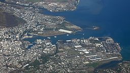 Flygbild av Port Louis.