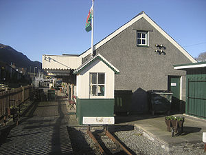 The WHHR station building at Porthmadog