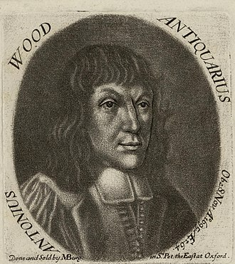 Anthony Wood (antiquary) - Image: Portrait of Antonius Wood antiquarius (4672209)