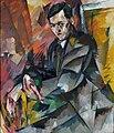 Portrait of I. A. Malyutin by Aristarkh Lentulov (1918).jpg