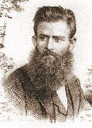 Georg Grimm - Portrait from a photograph; by Angelo Agostini (Revista Illustrada, 1888)