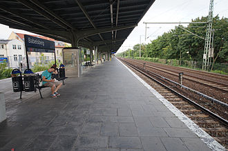 Potsdam-Babelsberg station - The platform