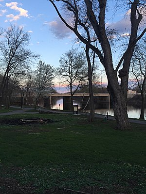 Schuylkill River Trail - The trail runs along the Schuylkill River in Pottstown, Pennsylvania, at the Riverfront Park