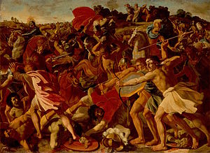 Judaism and warfare - The Victory of Joshua over the Amalekites, by Nicolas Poussin