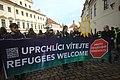Praha, Hradčany, prouprchlická demonstrace Zelených V.jpg