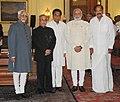 Pranab Mukherjee, the Vice President, Shri Mohd. Hamid Ansari, the Prime Minister, Shri Narendra Modi, the Union Minister for Urban Development, Housing and Urban Poverty Alleviation and Parliamentary Affairs.jpg