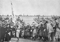 Presentation of the Banner by Sailors of USS Michigan to Michigan Football Team, 1909.png