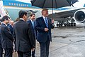 President Trump Arrives in Osaka (48138416033).jpg