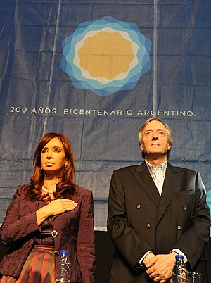 Presidenta Cristina Fernandez y diputado Nestor Kirchner