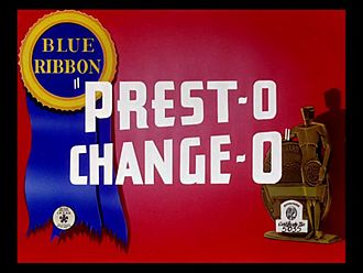 Prest-O Change-O - The reissue title card.