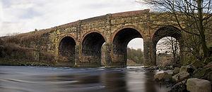 Prestolee Aqueduct - Panorama of Prestolee Aqueduct