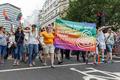 Pride in London 2016 - London Irish LGBT Network in the parade passing Trafalgar Square.png