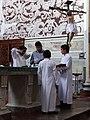 Priest and Altar Boys - Cathedral - Atlixco - Puebla - Mexico (19826727113).jpg