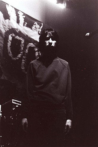 Primal Scream - Bobby Gillespie on tour in 1991 at Club Citta, Kawasaki, Japan
