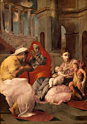Pierre Crozat - Primaticcio's Holy Family was purchased for Catherine (Hermitage Museum)