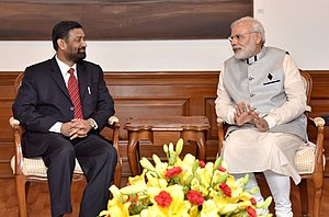 Bimalendra Nidhi - Nidhi meeting Indian Prime Minister Narendra Modi; August 2016.