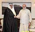 Prime Minister Narendra Modi with the Foreign Minister of Bahrain.jpg