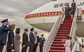 Prime Minister of Japan Shinzo Abe arrives at Joint Base Andrews 150427-F-WU507-044.jpg