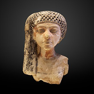 Meritaten - A daughter of King Akhenaten and Queen Nefertiti, perhaps the young Meritaten, later a great royal wife, and perhaps reigning in her own right as pharaoh Ankhkheperure Neferneferuaten - the Louvre, Paris