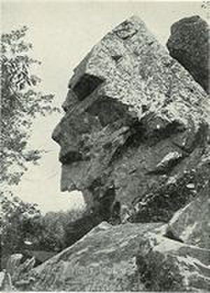 Assonet, Massachusetts - This photo from a 1902 postcard shows Profile Rock, which is said to be the image of Chief Massasoit.