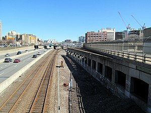 North–South Rail Link - The Back Bay portal, serving the Northeast Corridor and Worcester Line, would be located in this area east of Tremont Street