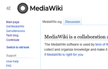 Proposed mediawiki logo (dark solid, capitalised) new vector.png