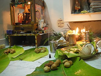Puja with leaves.jpg