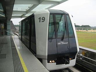 Punggol LRT line - Image: Punggol LRT Crystal Mover