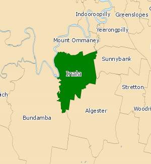 Electoral district of Inala - Electoral map of Inala 2008